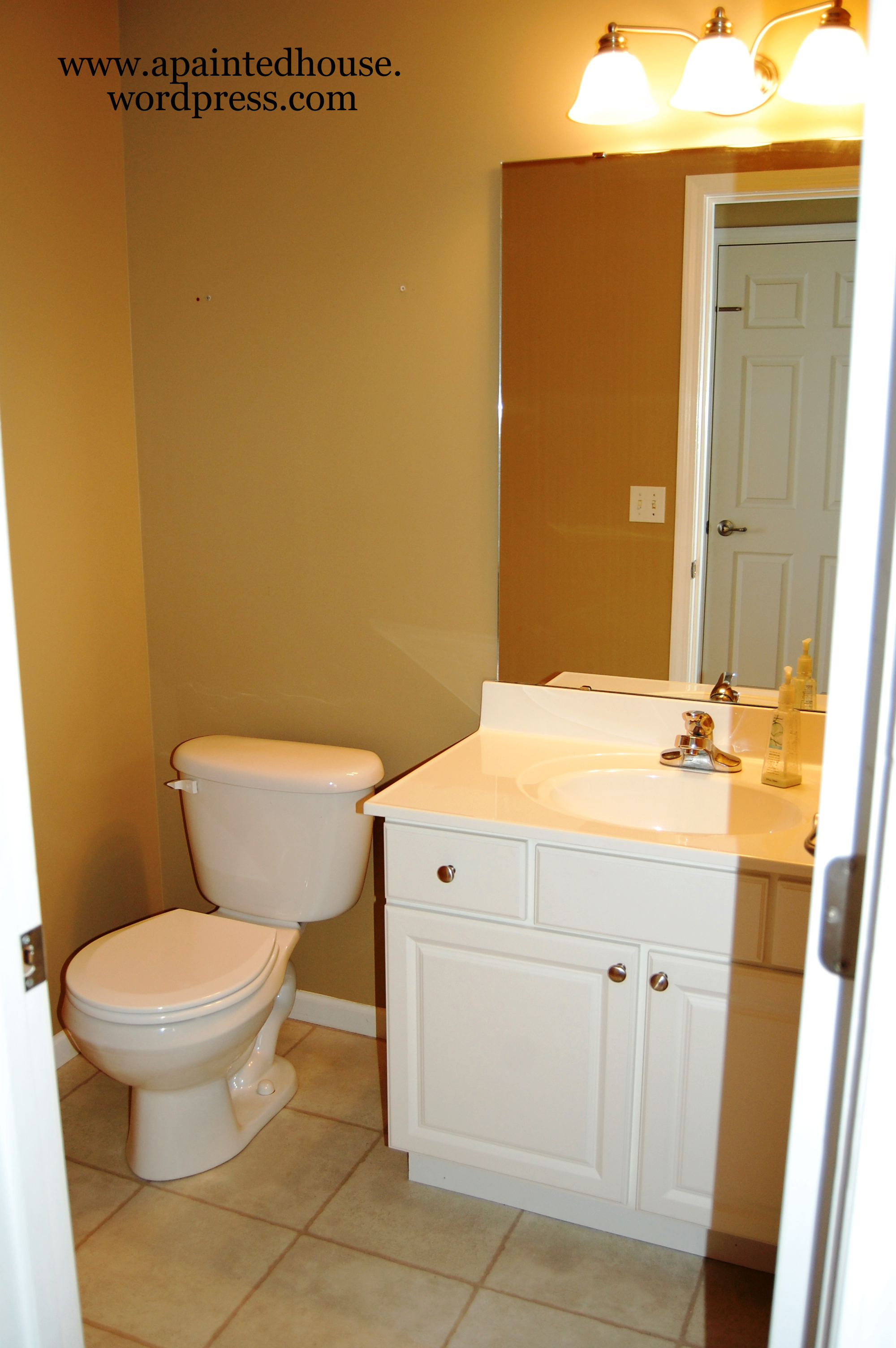 Cute small bathrooms - Room Reveal Half Bath A Painted House